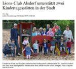 Lions-Club Alsdorf unterstützt zwei Kindertagesstätten in der Stadt