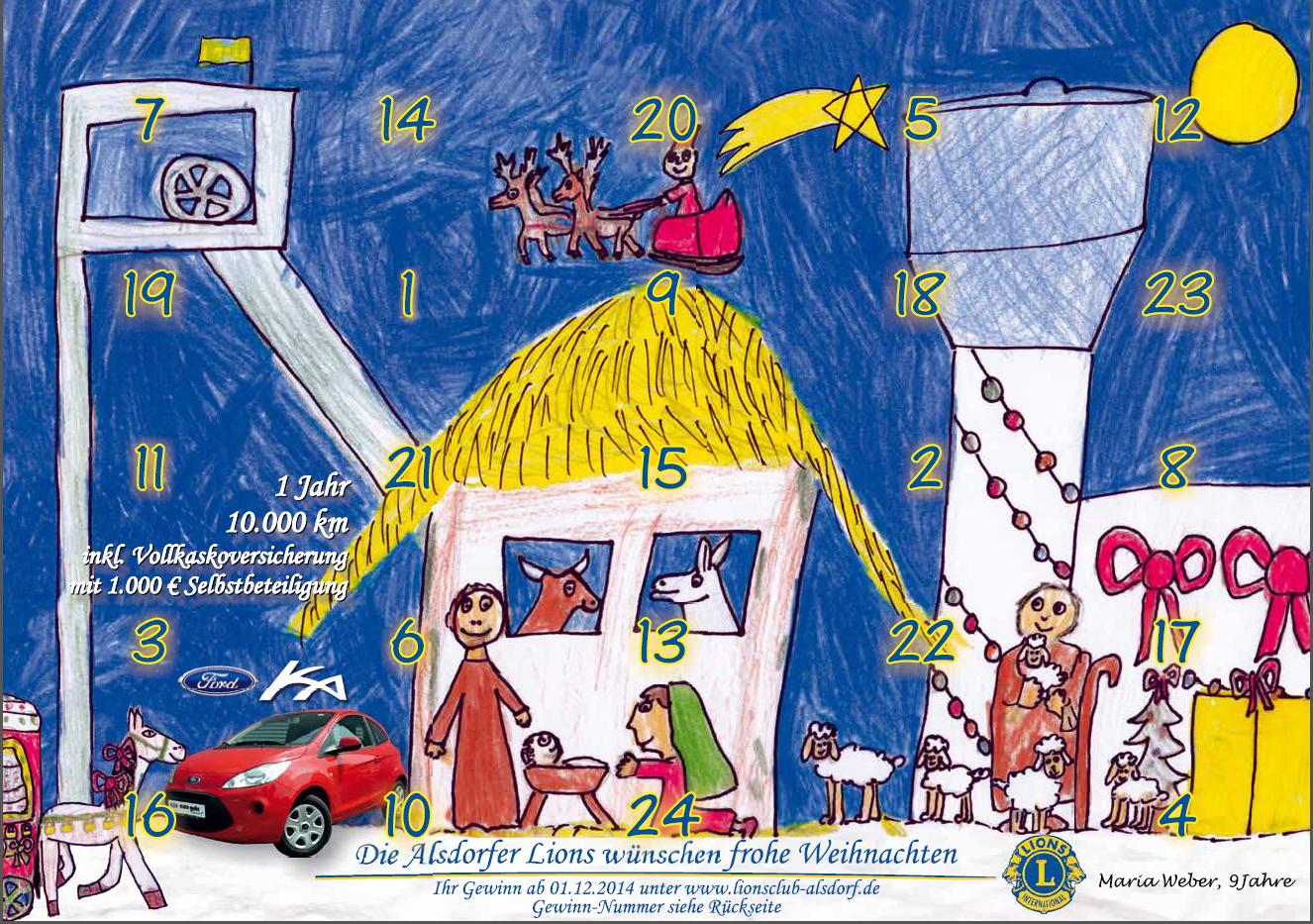 Adventskalender 2014: Gewinn-Nummern und weitere Informationen
