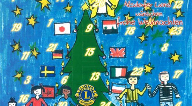 Gewinn Weihnachtskalender.Lions Adventskalender 2016 Gewinn Nummern Lions Club Alsdorf